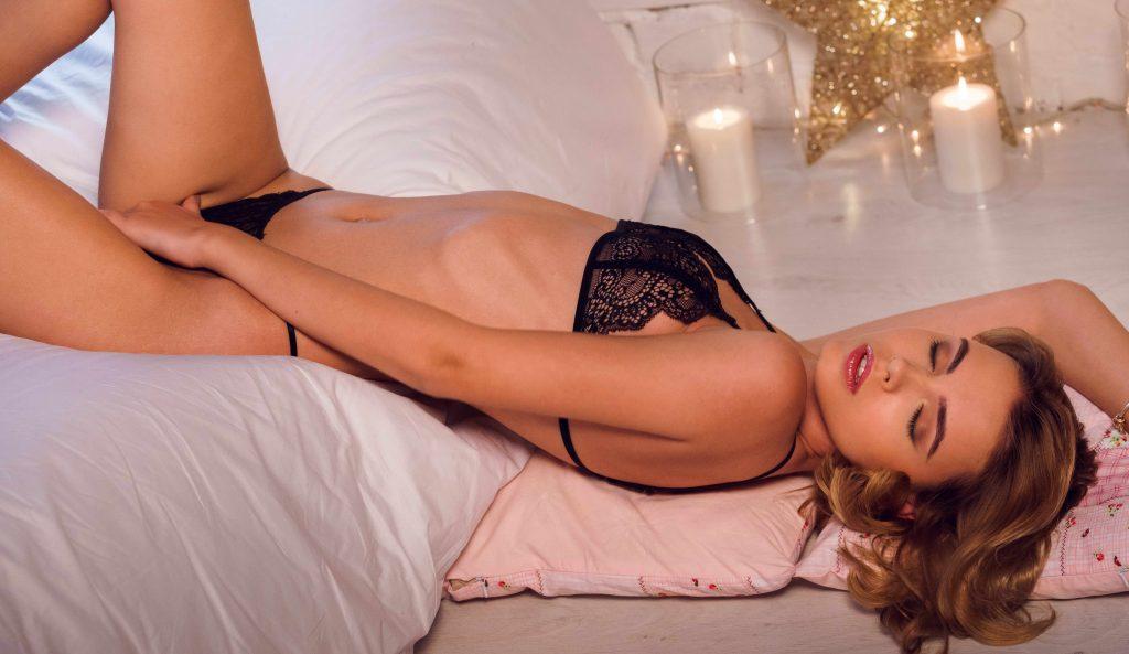 Erotic Teasing Brunette